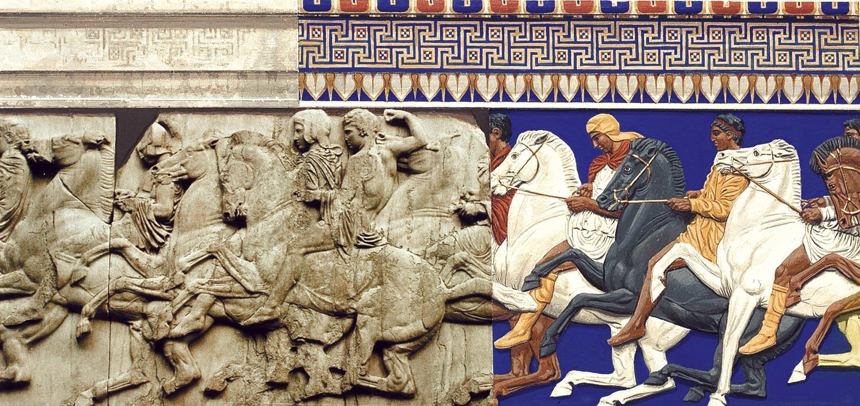 Fragment de la frise des Panathénées : les cavaliers athéniens