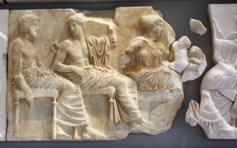 Fragment de la frise des Panathénées : Les dieux accueillant la procession