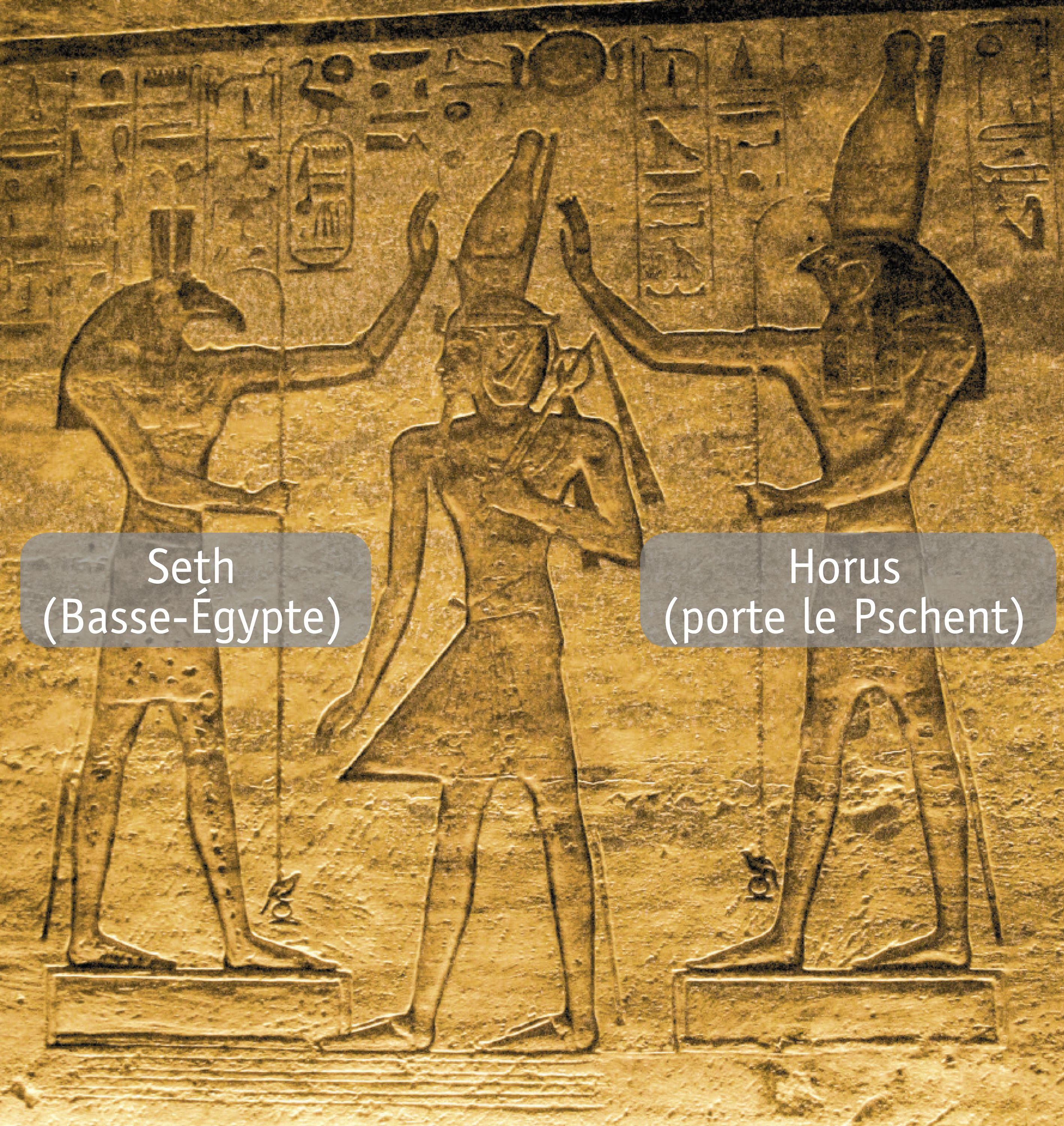 <stamp theme='his-green2'>Doc. 3</stamp> Ramsès II couronné par les dieux