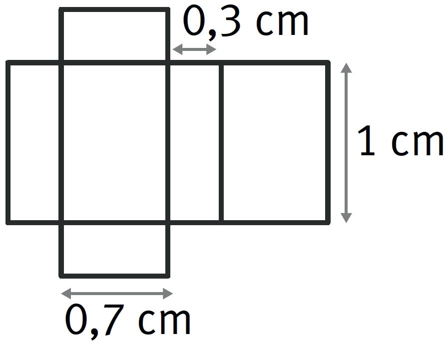 Refaire : Calculer le volume d'un pavé droit avec son patron.