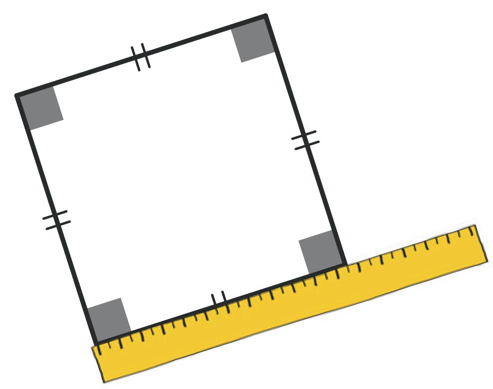 Refaire : Mesurer le périmètre d'un carré.