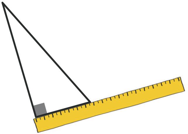 Refaire : Mesurer l'aire d'un triangle rectangle.