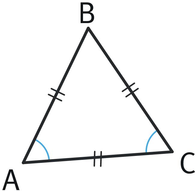 Refaire : Étudier les angles d'un triangle équilatéral.