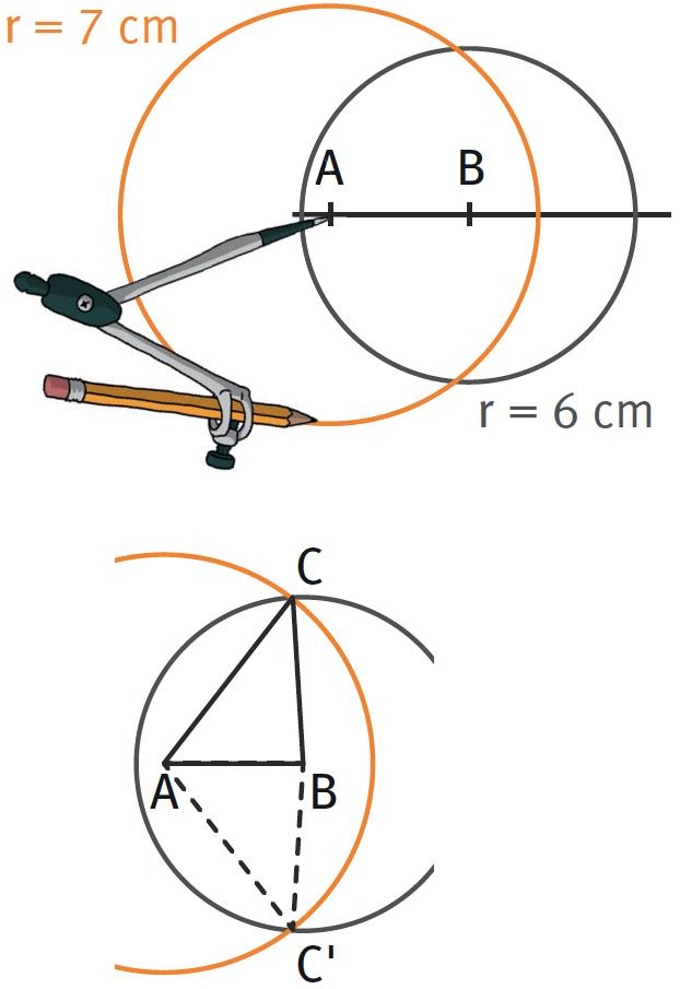 Refaire : Tracer un triangle dont les dimensions sont données.