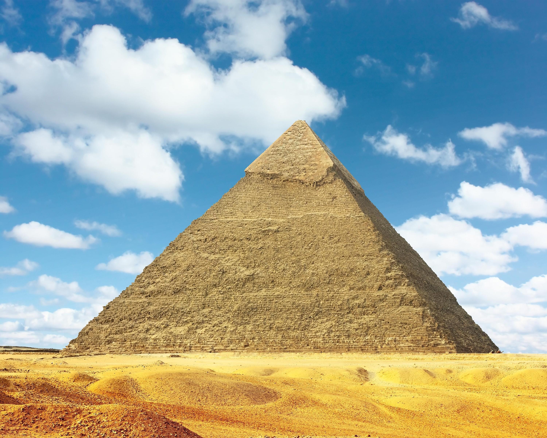 <stamp theme='maths-blue1'>Doc. 4</stamp> La grande pyramide de Gizeh.