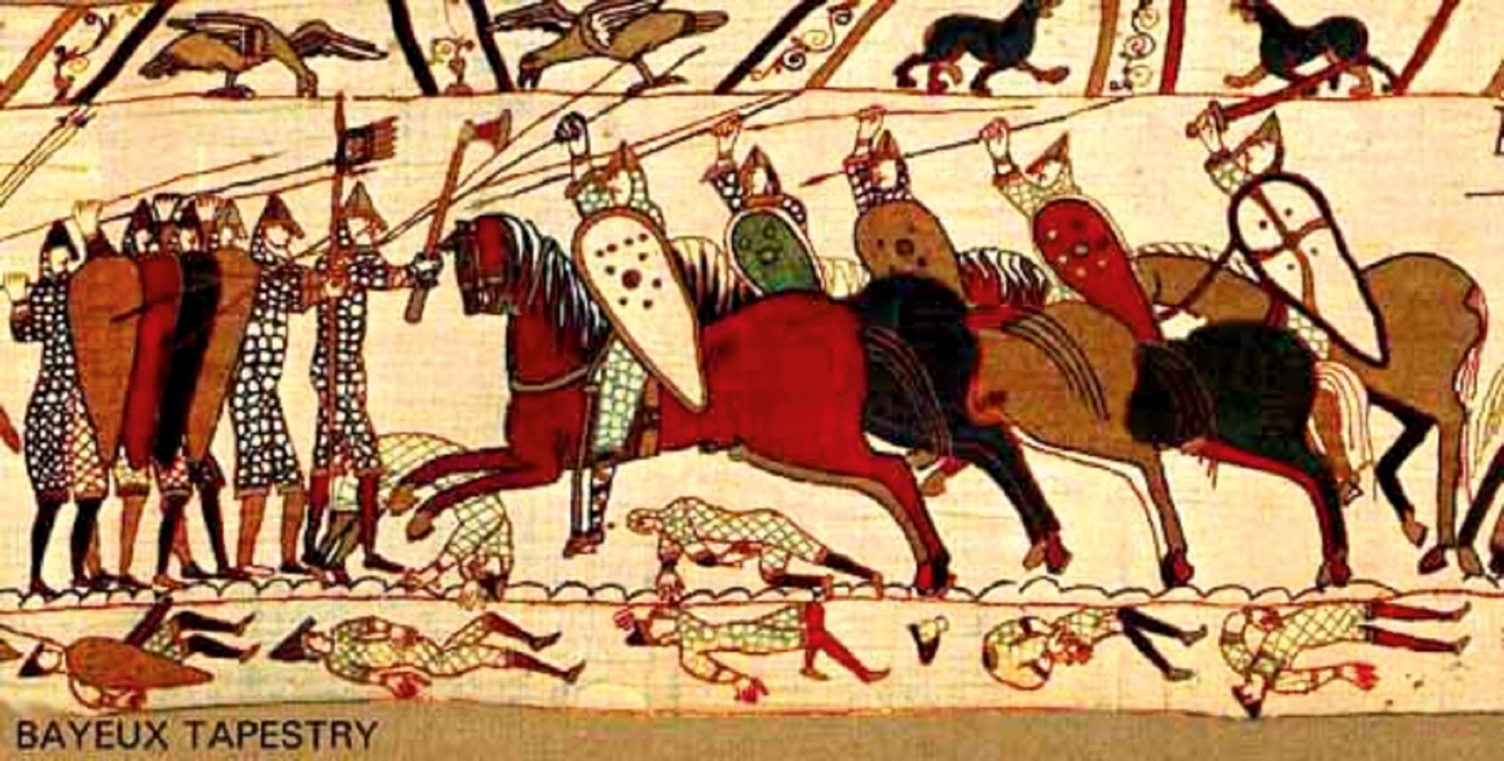 The Battle of Hastings, a segment of the Bayeux Tapestry