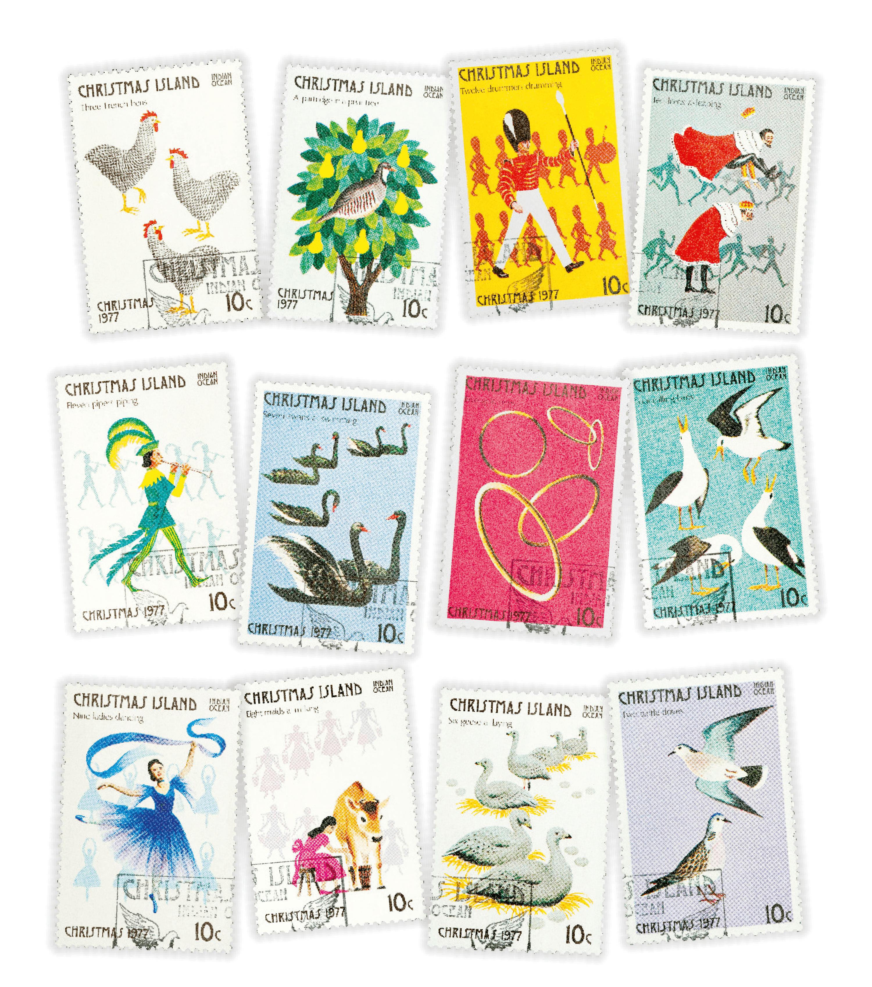 Stamps printed on Christmas Island