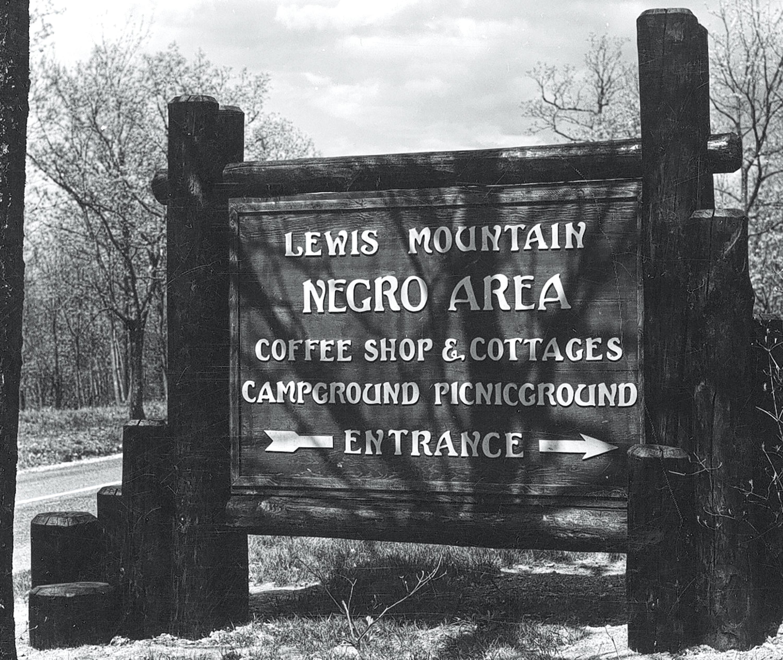 Sign in Shenandoah National Park