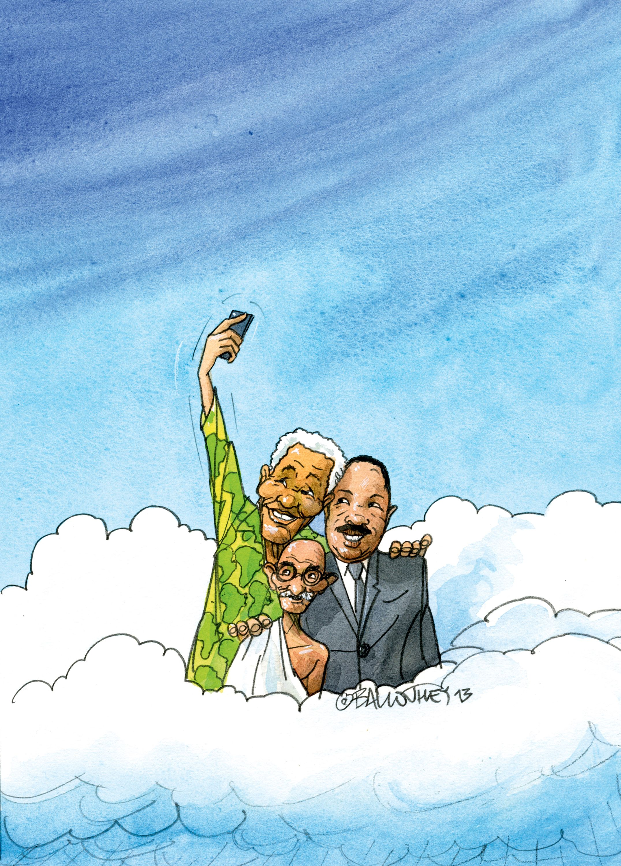 Three Greats Take a Selfie in Heaven