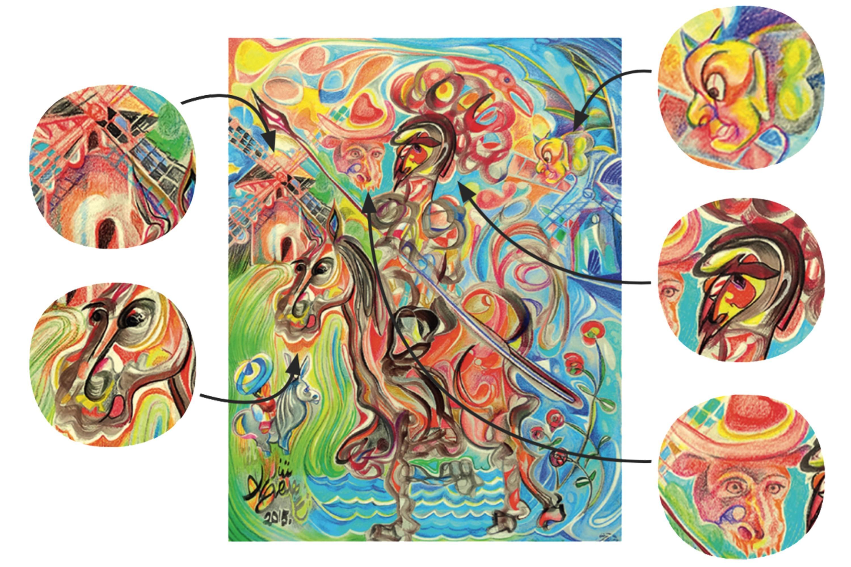 <stamp theme='maths-pink'>Doc. 1</stamp> Don Quijote alucinando los molinos del viento