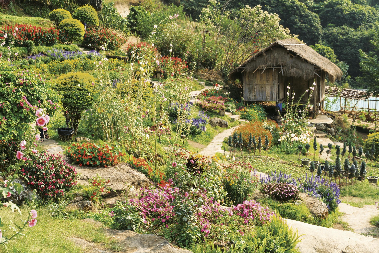 Un jardin à l'anglaise.
