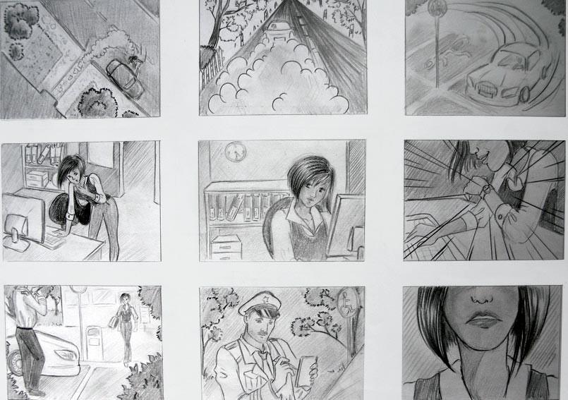 Exemple de storyboard.