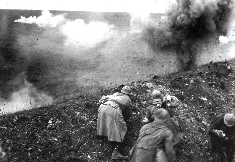 Soldats français durant la bataille de Verdun