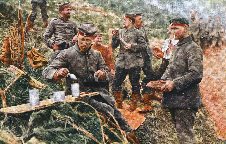 Guerre de position : approvisionnement des soldats allemands