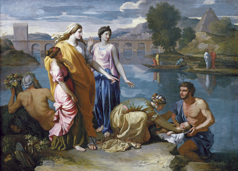Moïse sauvé des eaux.