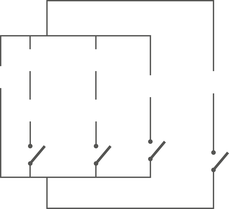 <stamp theme='pc-green1'>Doc. 2</stamp> Schéma du circuit, sans les composants.