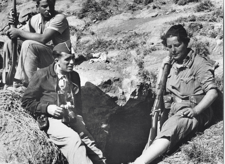 Milicianas en el frente de Aragón durante la Guerra Civil