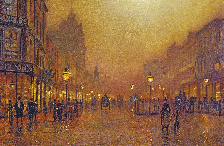 Une rue de nuit