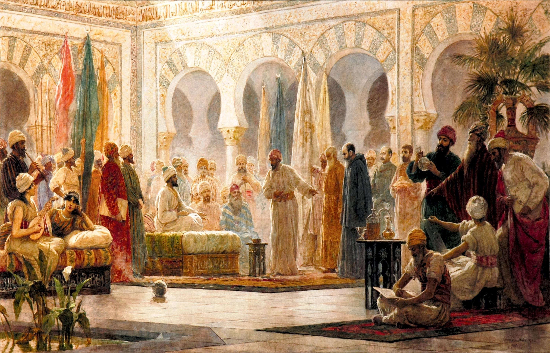 Abd-ar-Rahman III y su corte en Medina Azahara