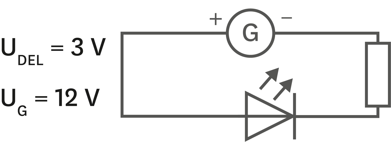 Circuit avec résistor de résistance de 50 Ω.