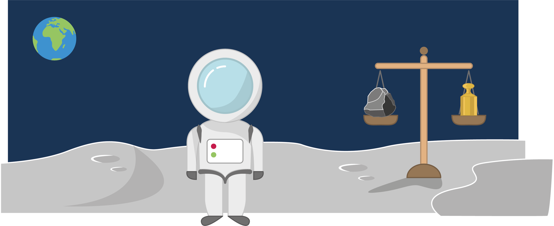 <stamp theme='pc-green1'>Doc. 1</stamp> Une balance sur la lune.