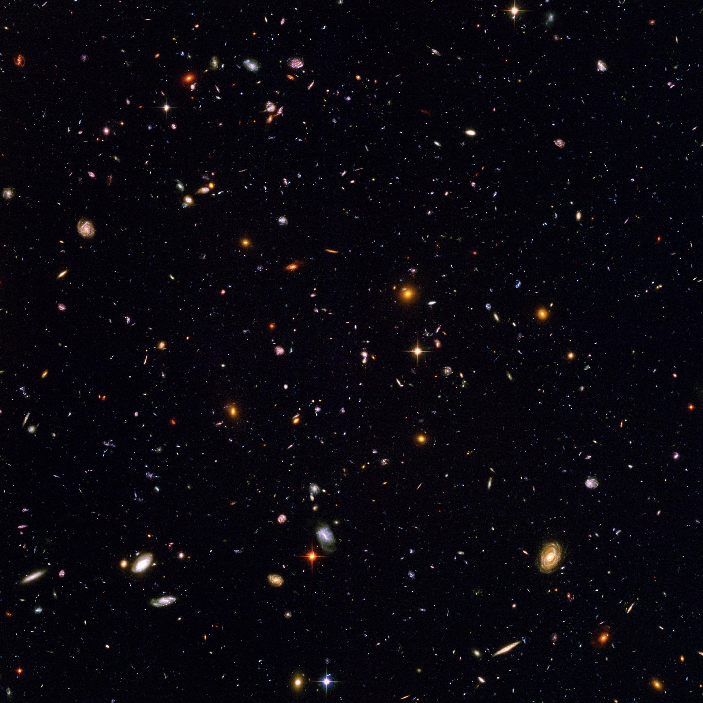 <stamp theme=pc-green1>Doc. 2</stamp> L'espace lointain, vu par le téléscope Hubble.
