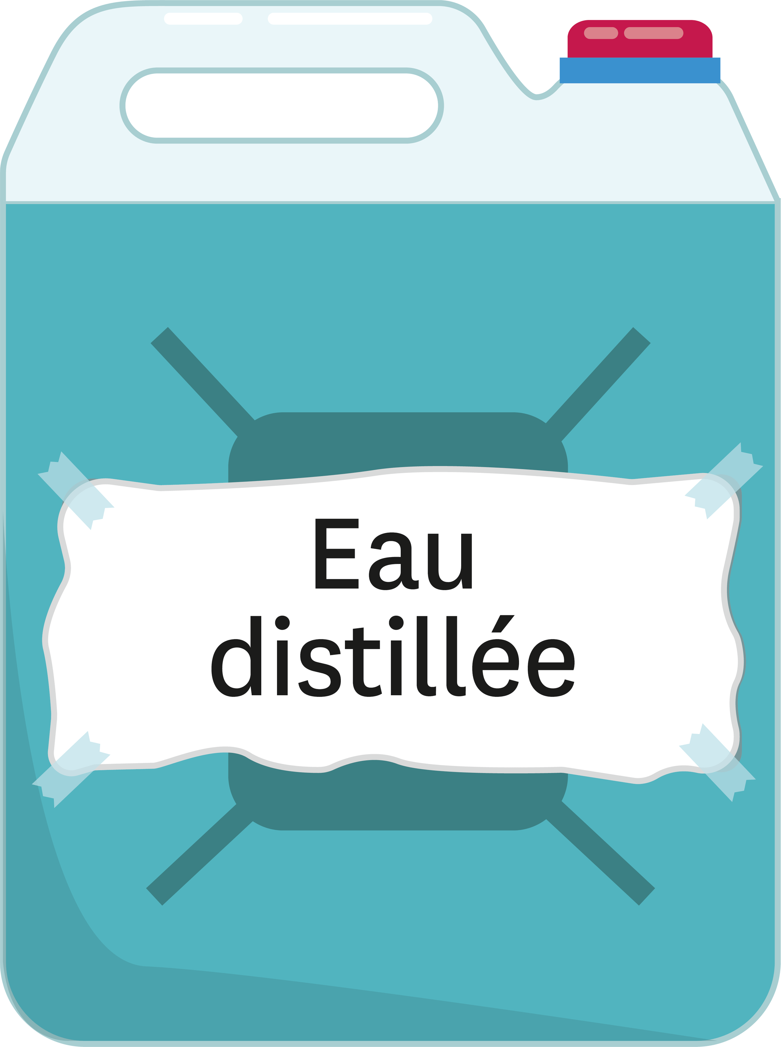 <stamp theme='pc-green1'>Doc. 3</stamp> Eau distillée.