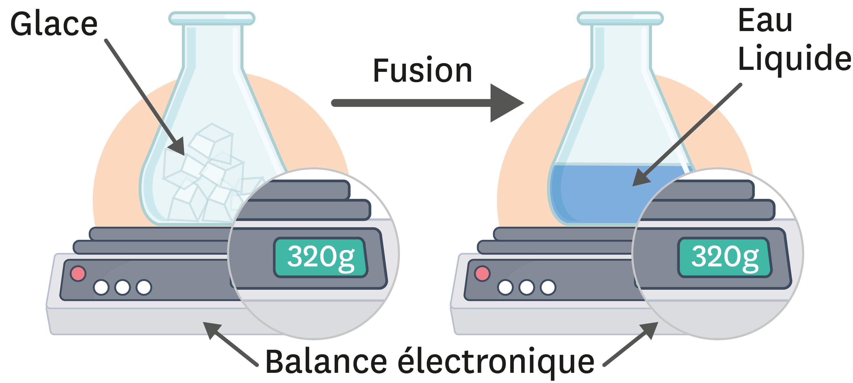 <stamp theme='pc-green1'>Doc. 5</stamp> Masse et fusion de l'eau.