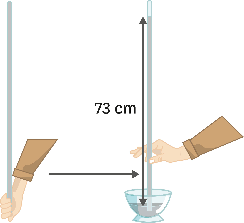 <stamp theme='pc-green1'>Doc. 3</stamp> Schéma de l'expérience de Torricelli.