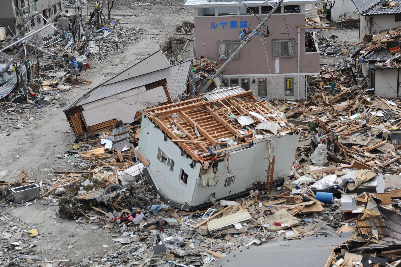 Dégâts dus au tsunami et au séisme du 11 mars 2011.