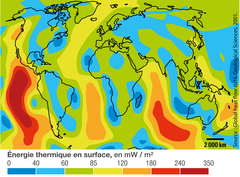 <stamp theme='svt-green1'>Doc. 2</stamp> La dissipation d'énergie thermique à la surface de la Terre.