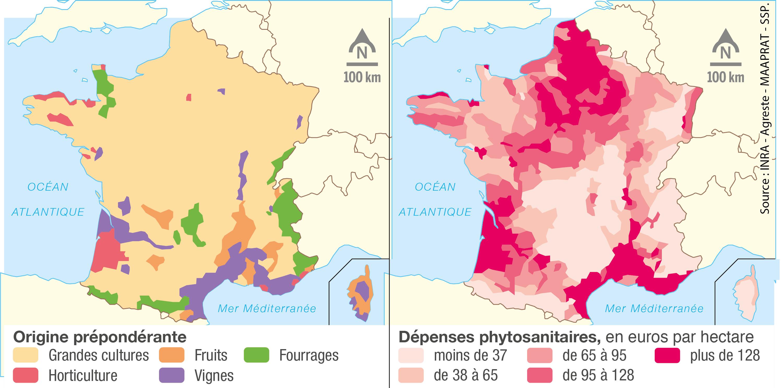 <stamp theme='svt-green1'>Doc. 2</stamp> L'utilisation des produits phytosanitaires en France durant les années 2000.
