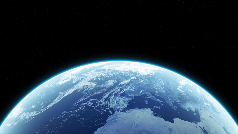 <stamp theme='svt-blue1'>Doc. 1</stamp> La forme sphérique de la Terre vue de l'espace.