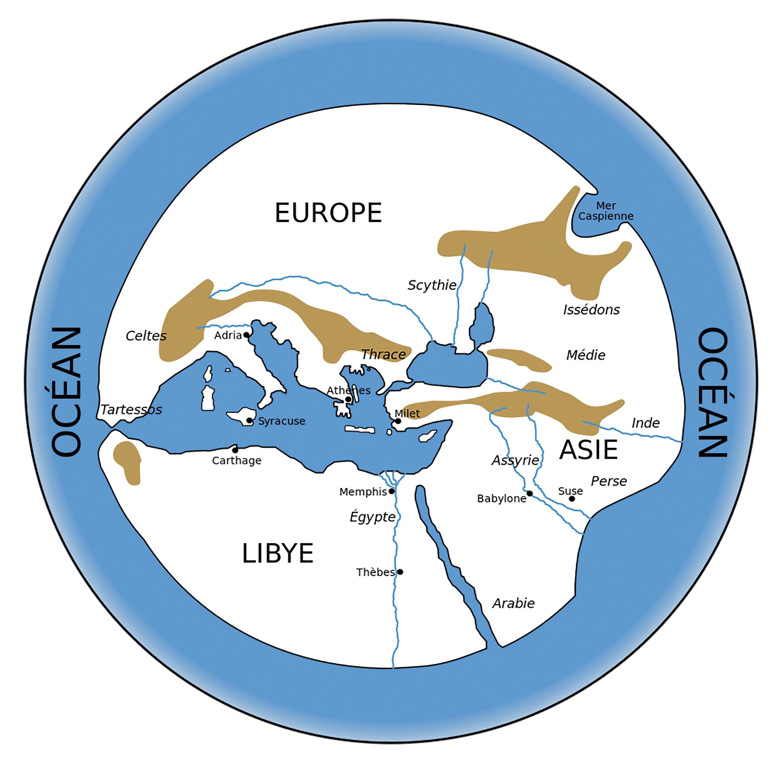 <stamp theme='svt-green1'>Doc. 1</stamp> Le monde selon Hécatée de Milet.