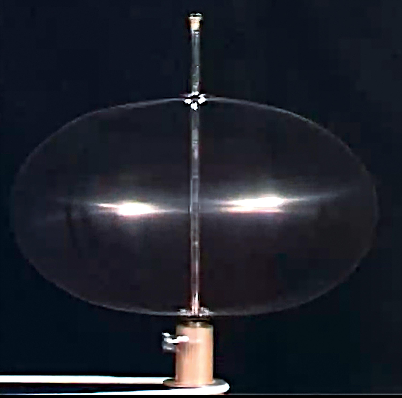 <stamp theme='svt-green1'>Doc. 2</stamp> Expérience de rotation d'une sphère métallique déformable.