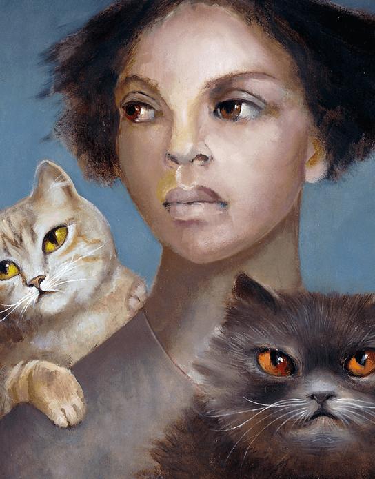 Femme et chats