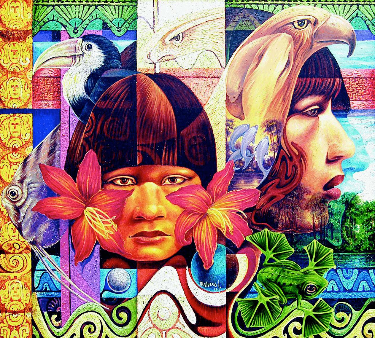 Alfredo Vivero, Espíritus femeninos del Amazonas, 1993.
