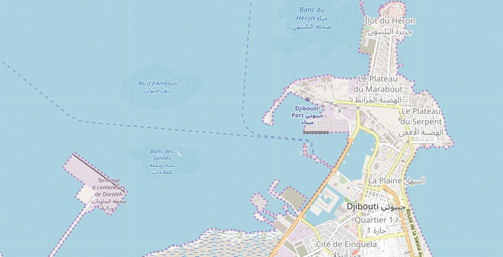 plan Le port de Djibouti