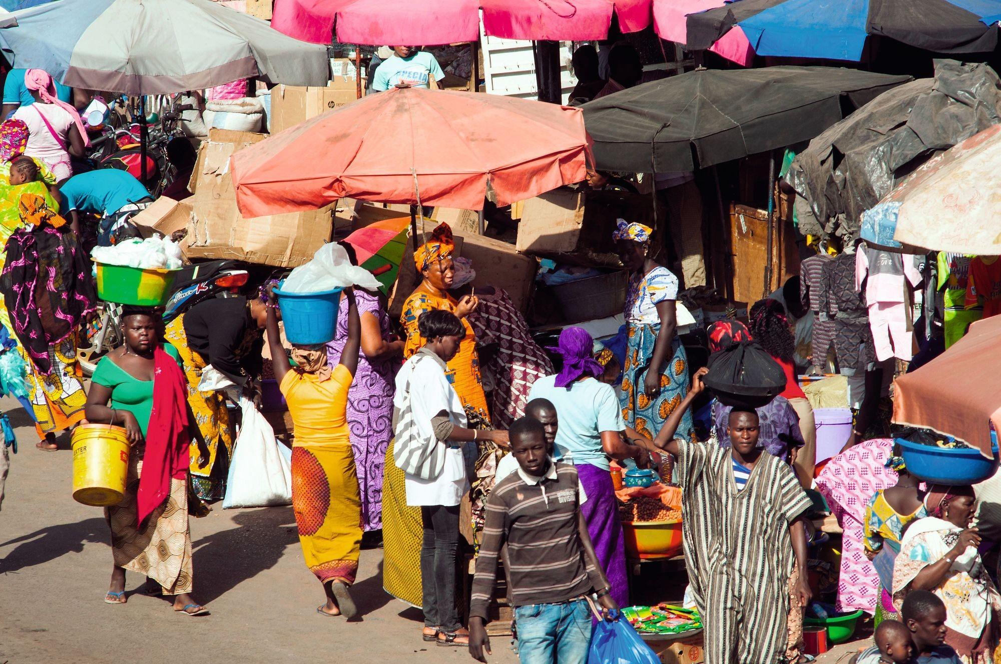 Scène de marché à Bamako