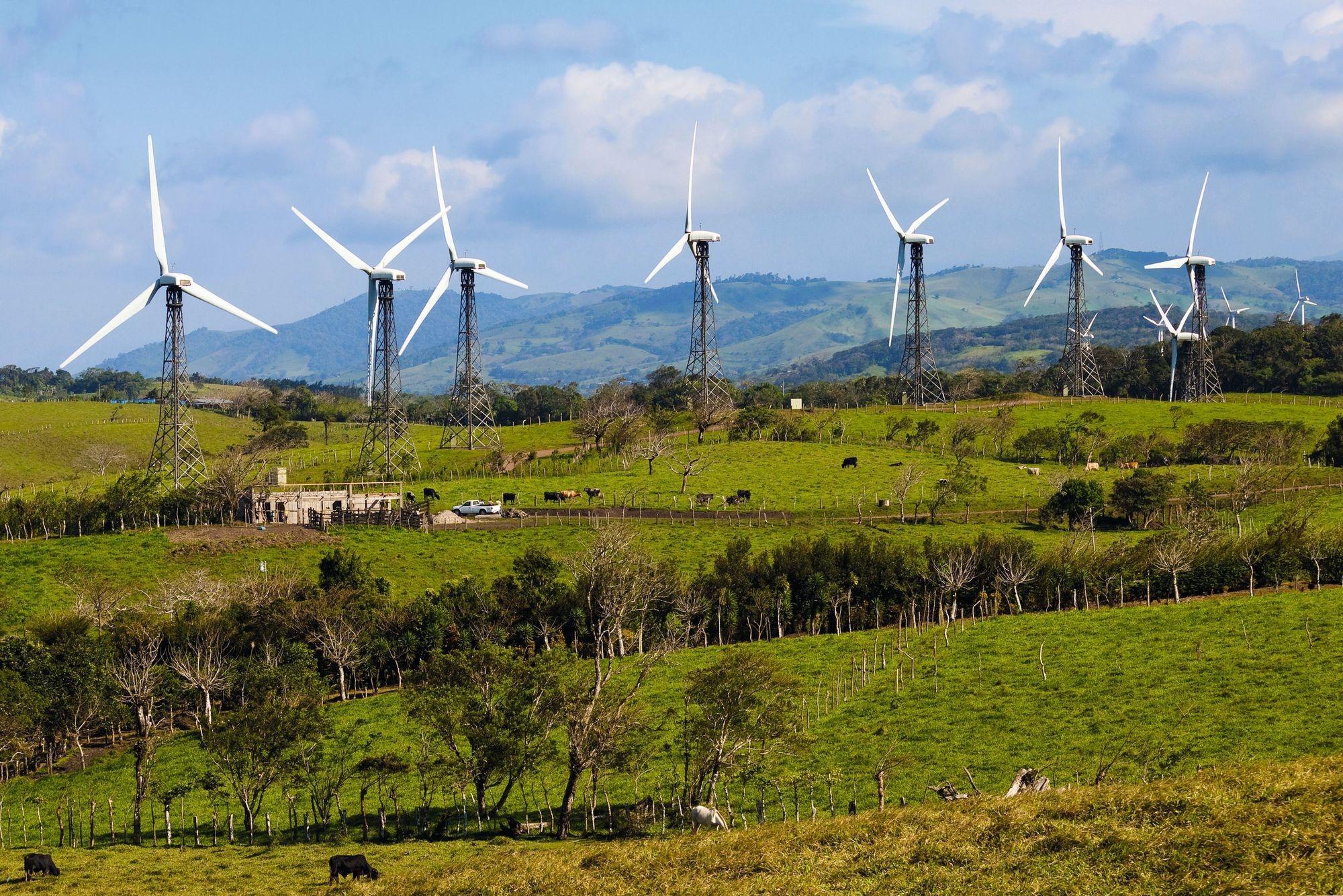 Parc éolien dans la province de Guanacaste (Costa Rica)