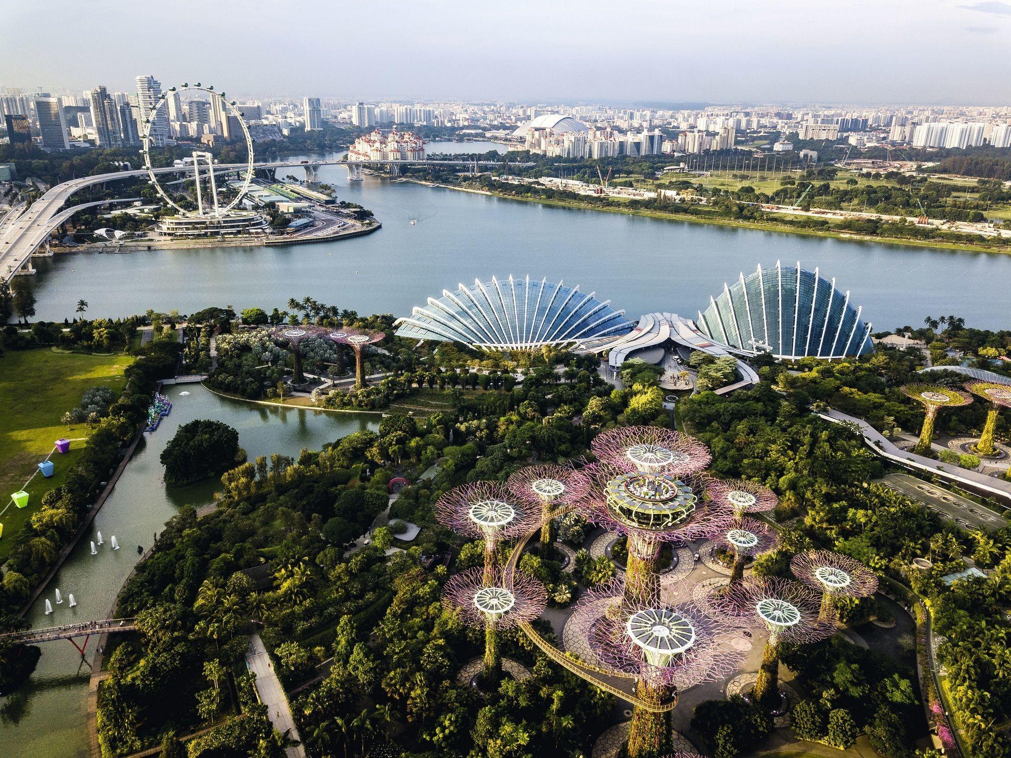 vue aérienne Singapour, une smart city
