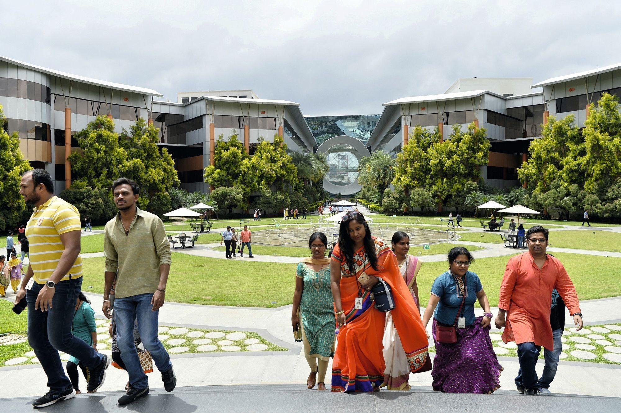 Le campus d'Infosys à Bangalore (Inde)