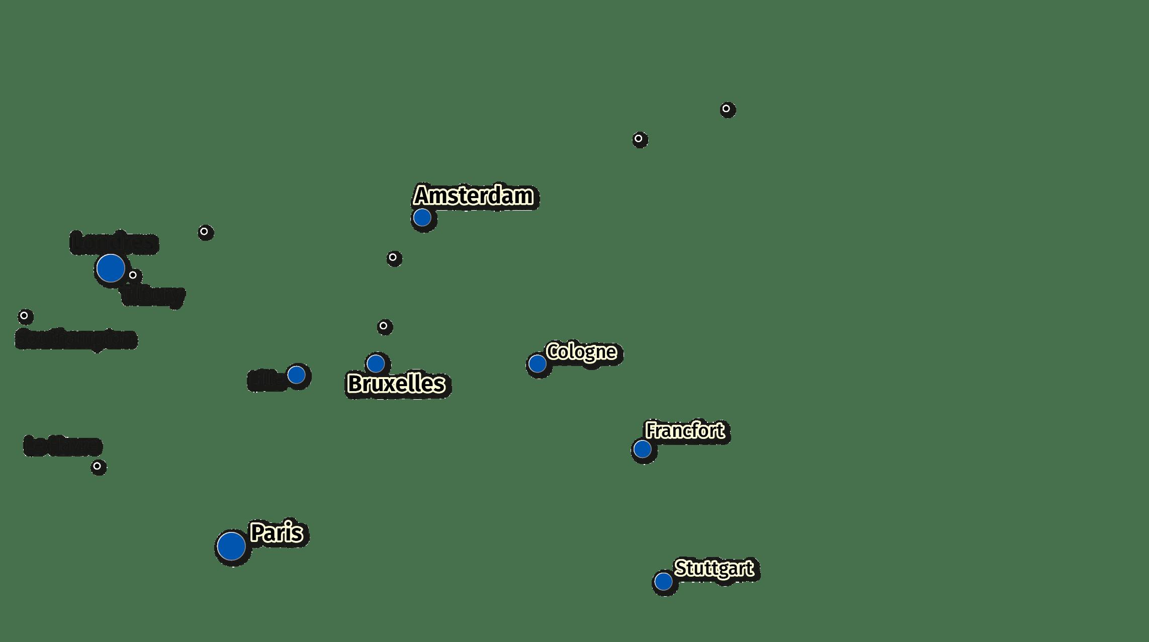 Principales métropoles dépendantes des ports de la Northern Range