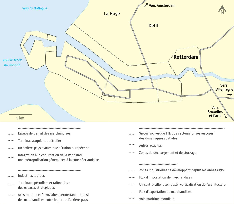 schema Rotterdam : entre métropolisation et littoralisation des activités