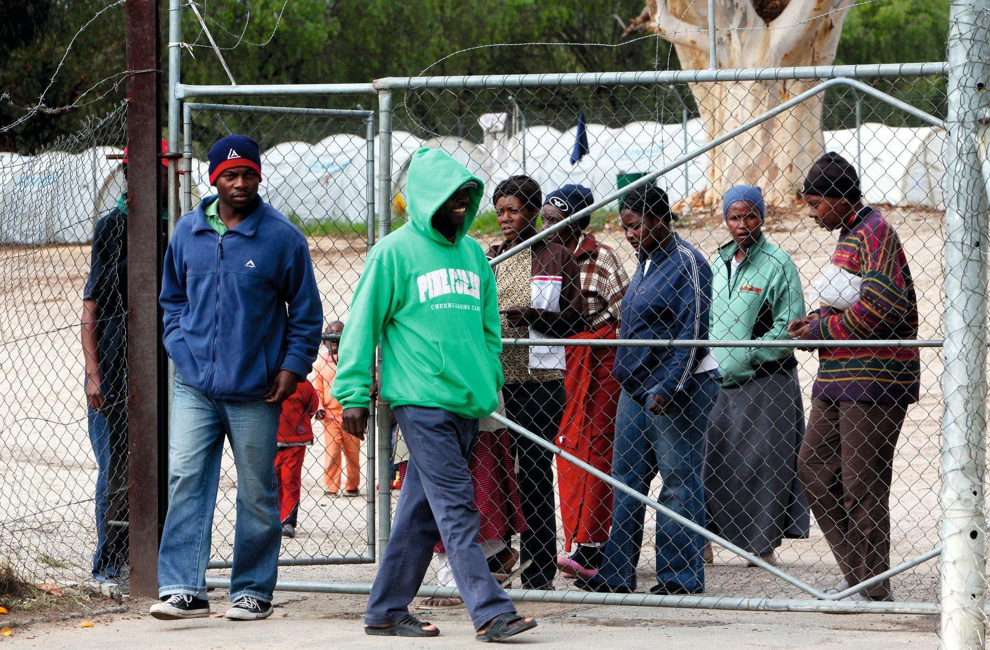 Réfugiés zimbabwéens en Afrique du Sud.