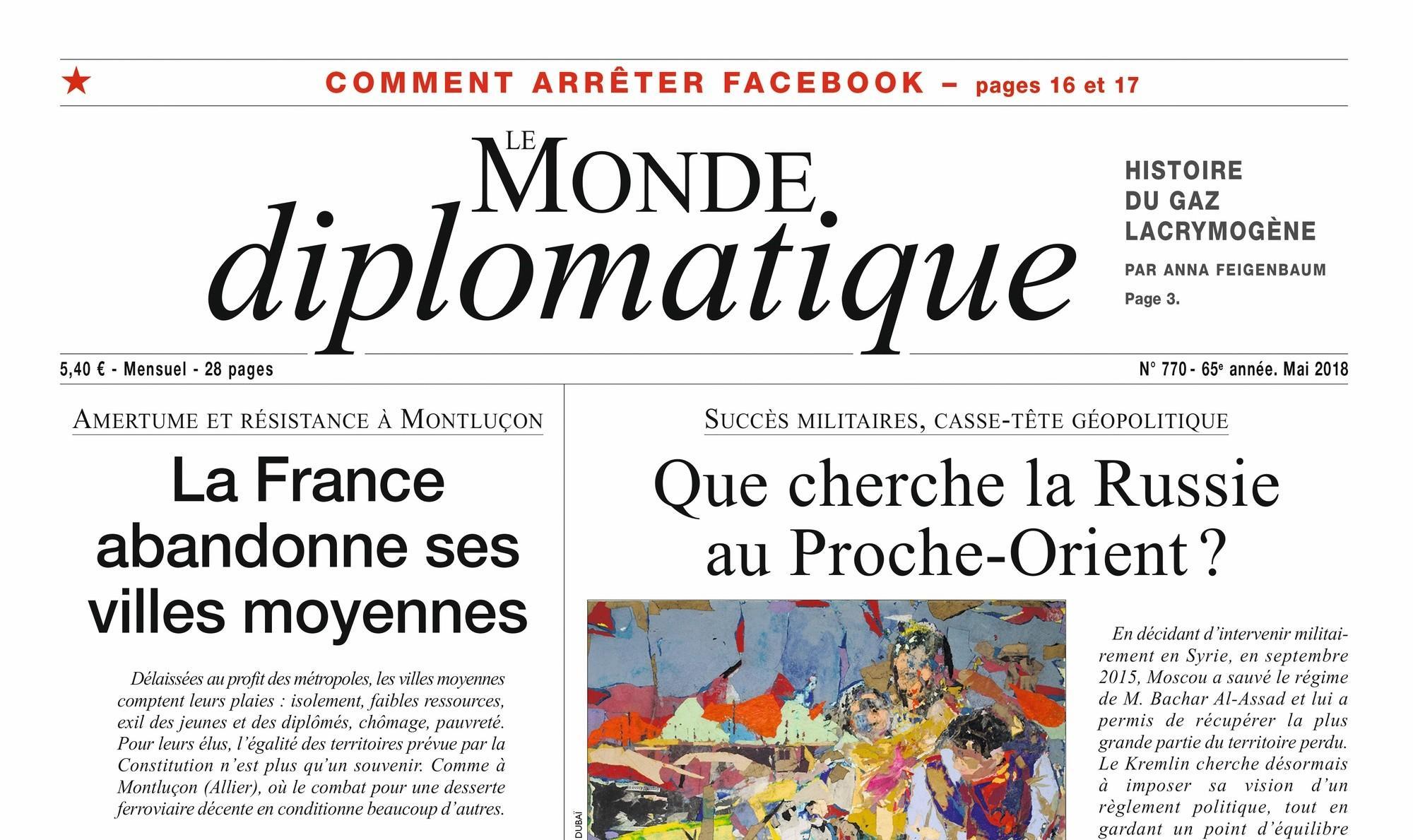 Le Monde diplomatique, la France abandonne ses villes moyennes