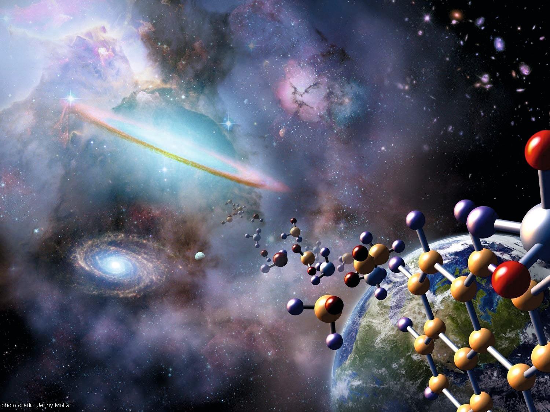 Astrochemistry representation, by NASA / Jenny Mottar.