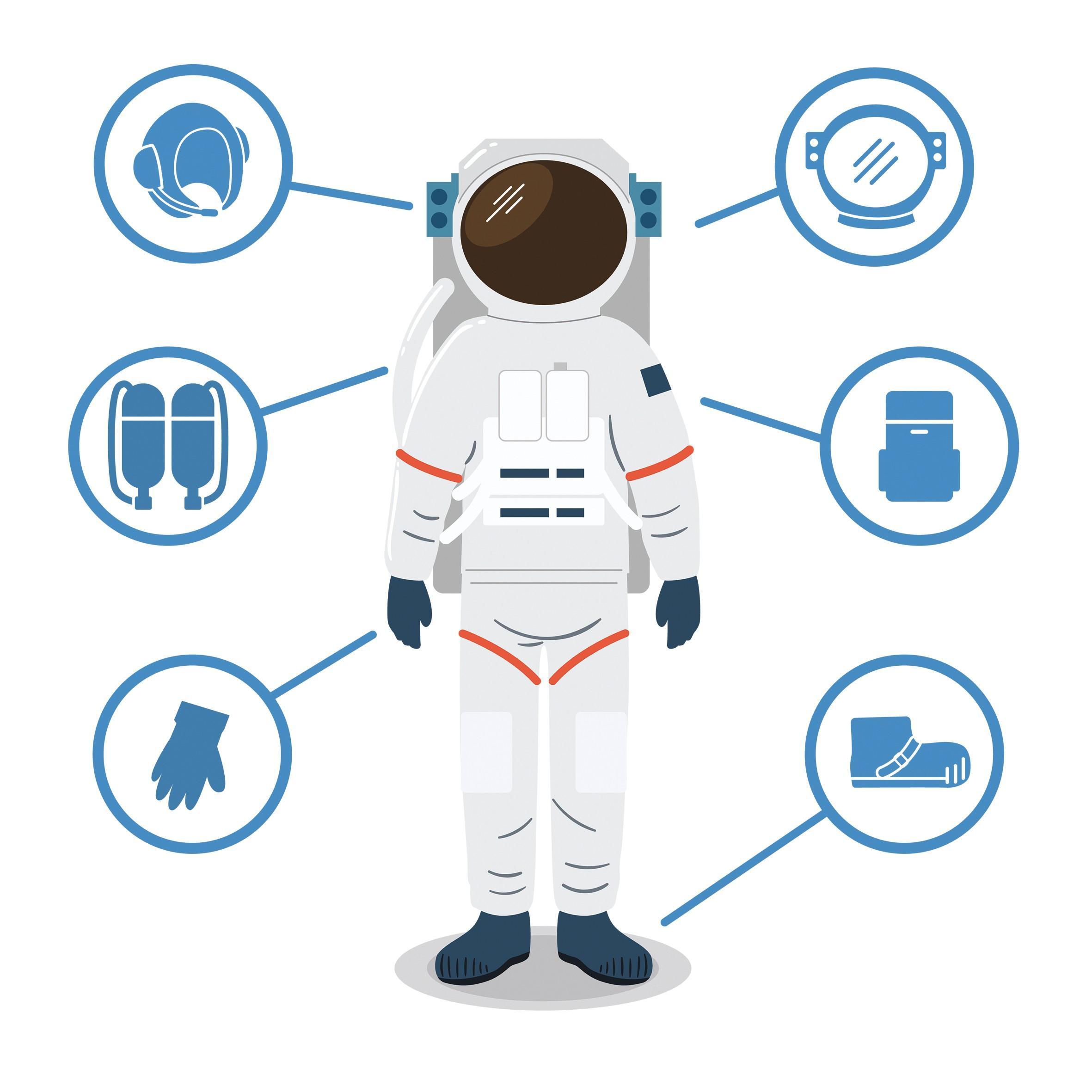 Infographie cosmonaute