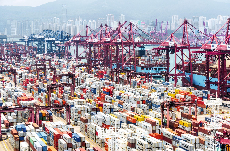 Port de Hong Kong, Chine.