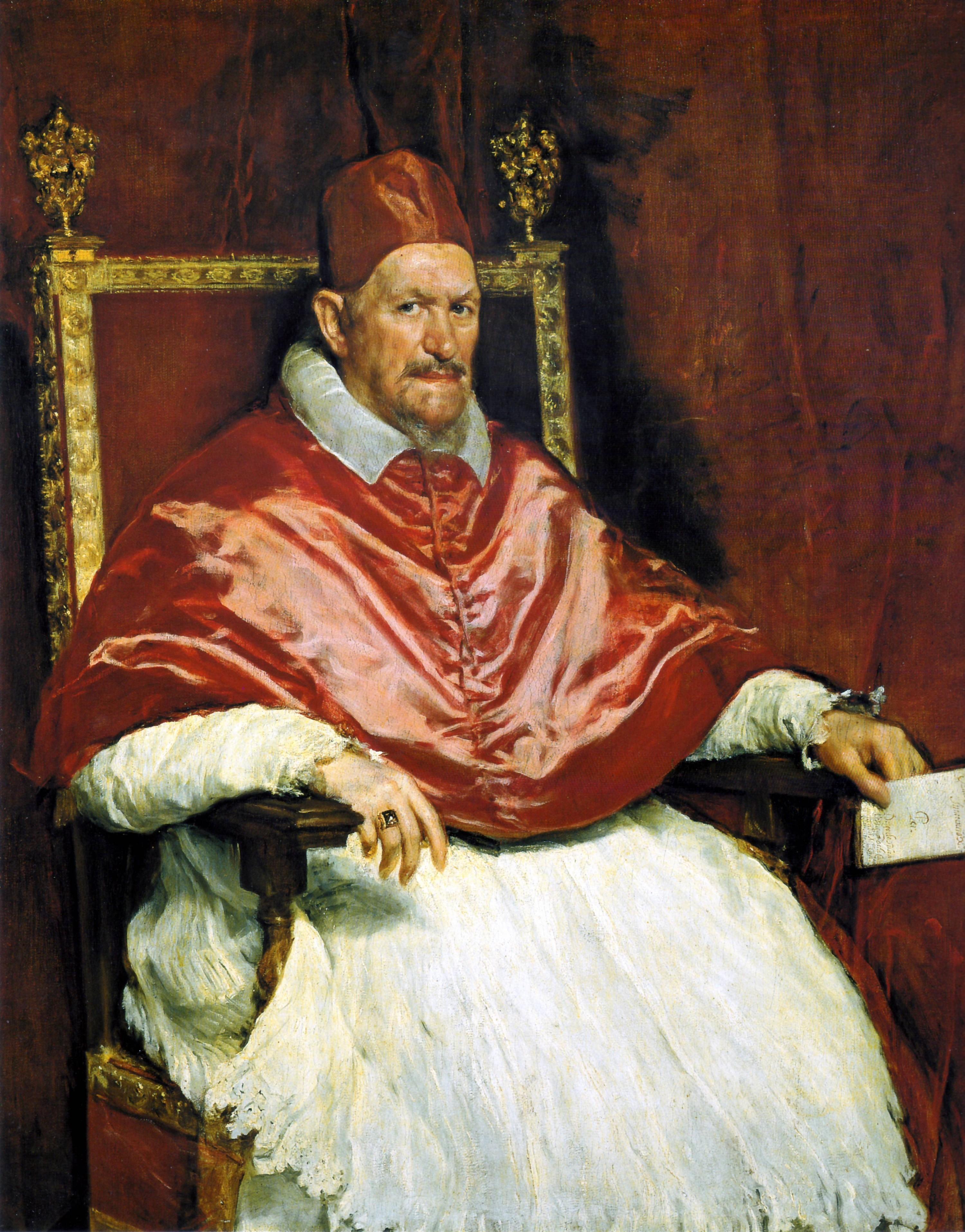 Pope Innocent X, Diego Velázquez, 1650.